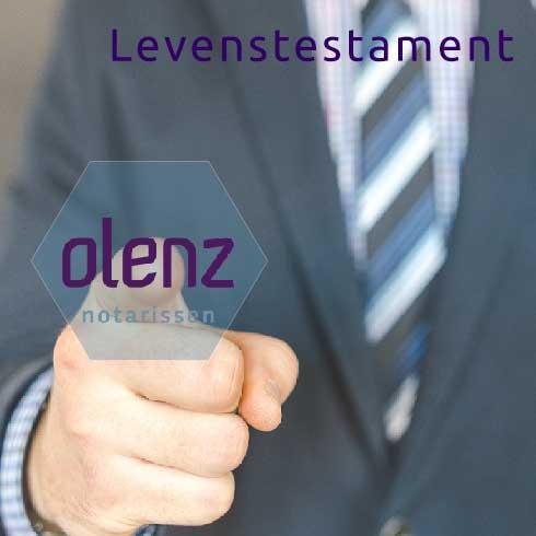 Levenstestament en Olenz notarissen